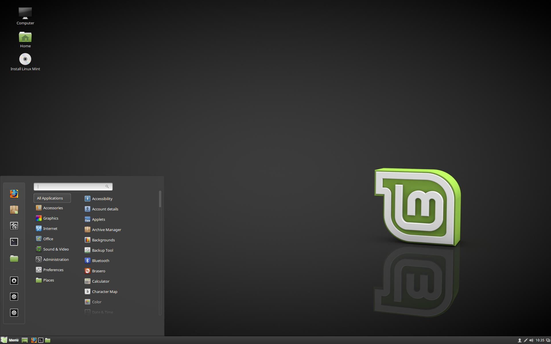 schwarze icons desktop
