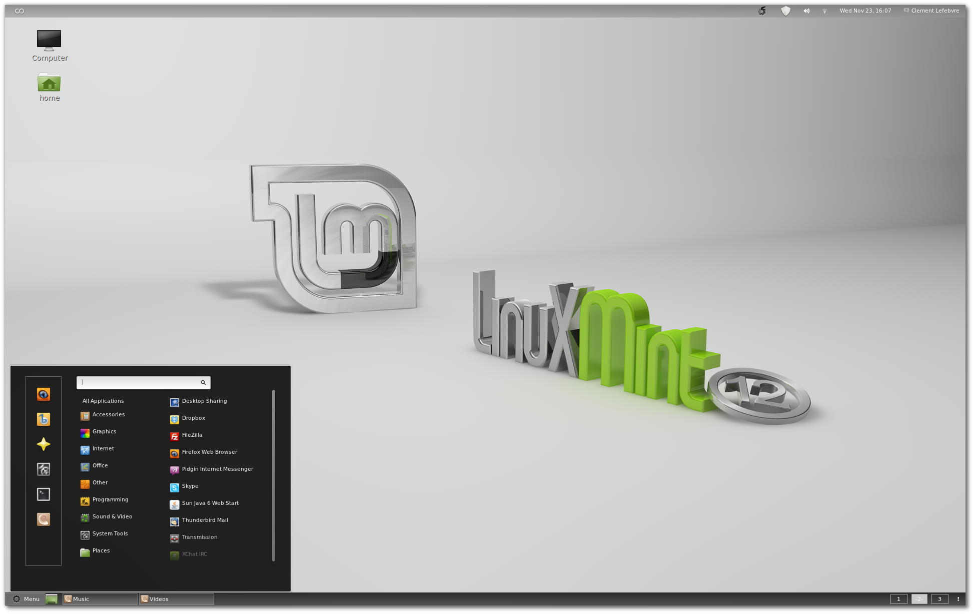new features in linux mint 12 linux mint. Black Bedroom Furniture Sets. Home Design Ideas