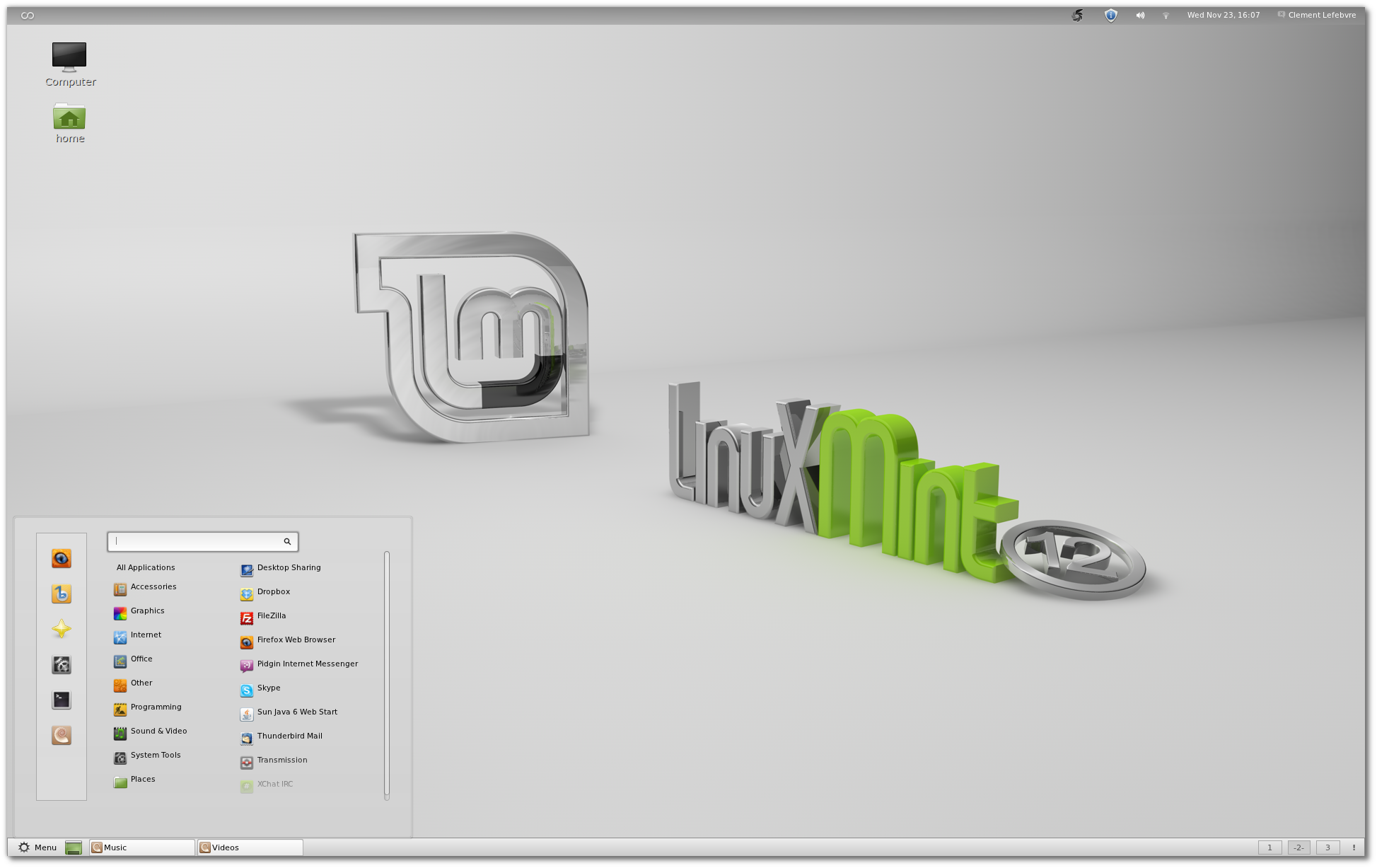 Linux mint 12 lisa