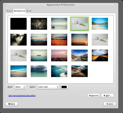 Pozadia pre Linux  Mint 13