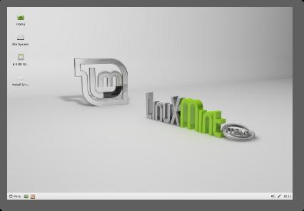 Linux Mint xfce Desktop Default