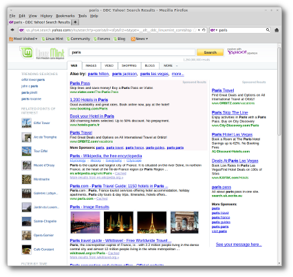 mint yahoo search engine