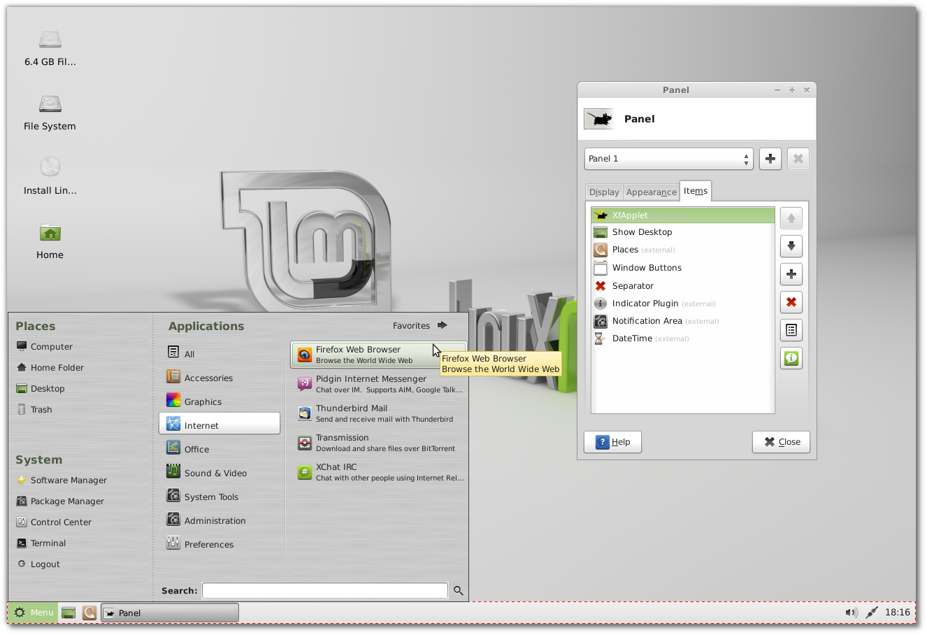 New features in Linux Mint 13 Xfce - Linux Mint