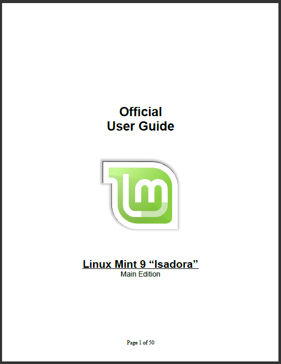 linuxmint user guide