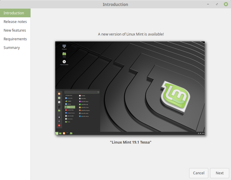 Linux mint 19 beta